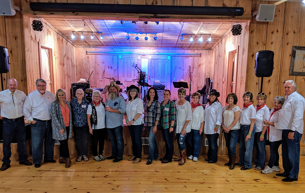 Pictured from left: Mike Raiford, Dave Jones, Melanie Beauchamp, Susan Bell, DeAnn Kirgan, David Howard, Jody Zorsch, Cathy Howard, Erin Howard, Veronica Byrd, Linda Brooks Jones, Michelle Coffman, Lynda Beeler, Marta Monroe, Pam Gunter, Brenda Duke, Mark Keck.