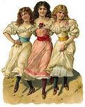 Photo of three victorian women