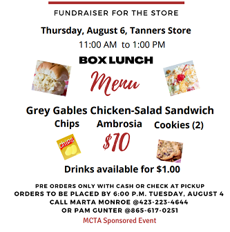 Tanners  Takeout Fundraiser