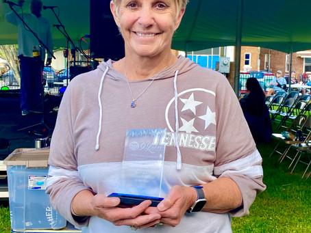 Pam Gunter - Volunteer of the Year! by  Linda Brooks Jones