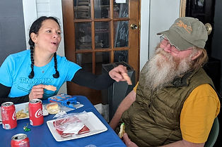 hiking marathon lunch cathy howard and d