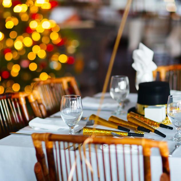 Celebración del partido del restaurante