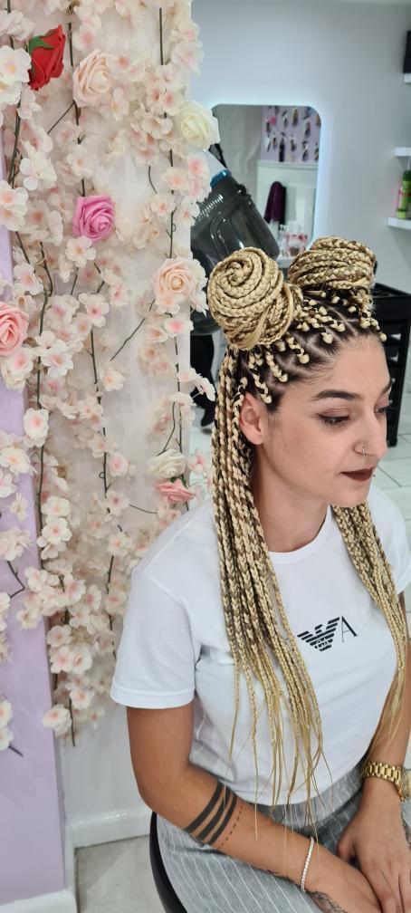Box Braids - Caucasian Hair