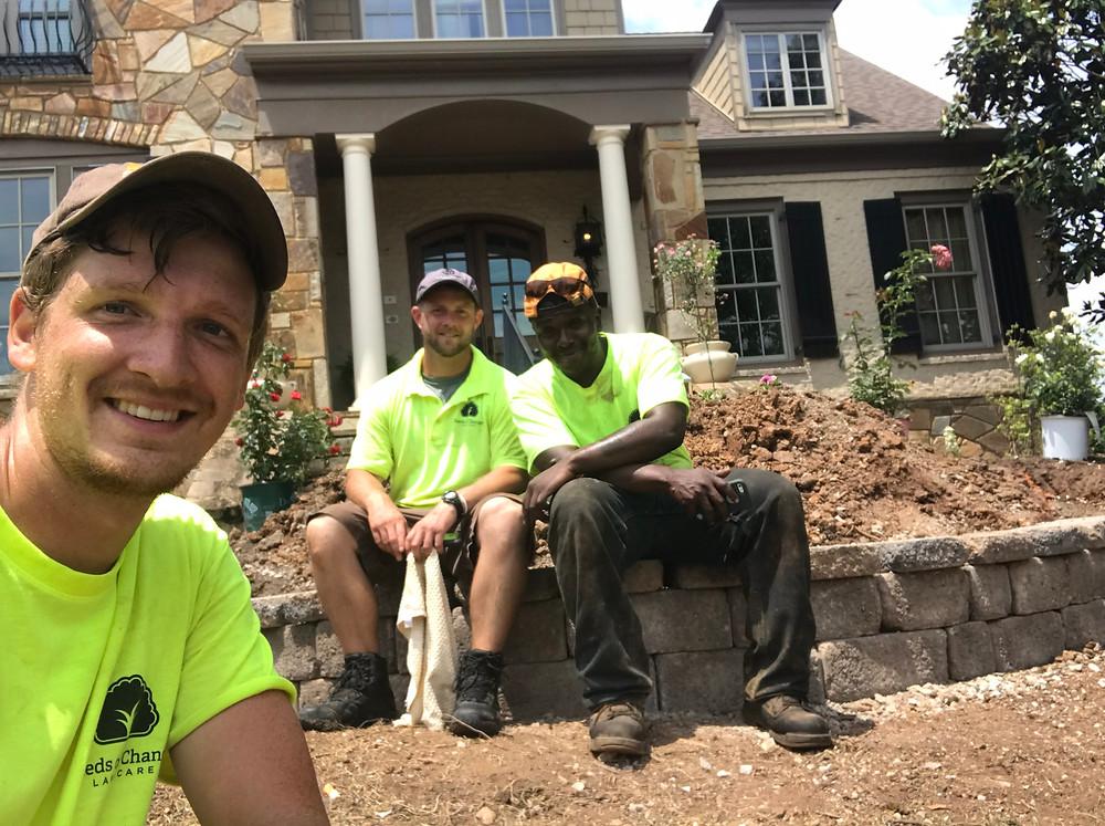 seeds of change, landscaping, landscapers, knoxville landscapers, team