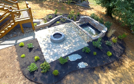 FIRE pit and WATER fall