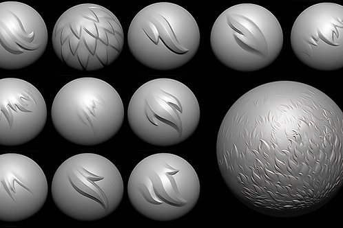 Fur Brushes for Zbrush