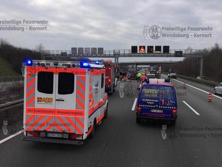 Verkehrsunfall auf A2 (06.02.2020)