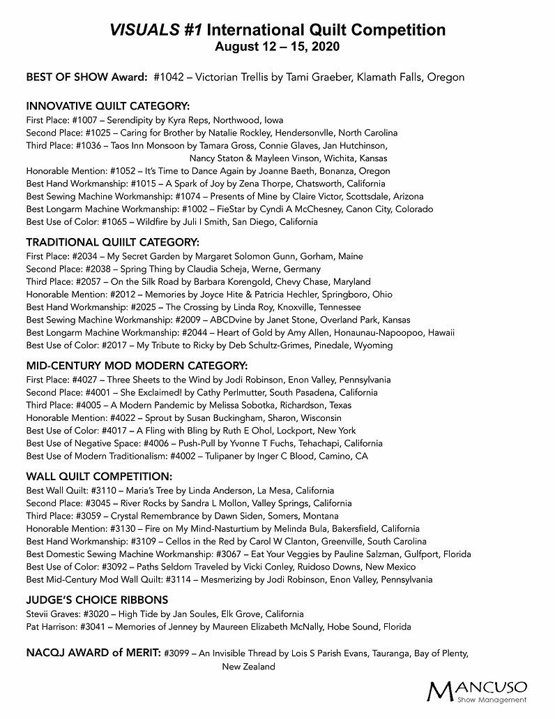 OLQF Winners List