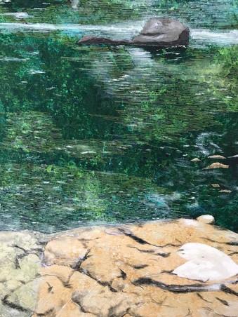 #1013 Water Dance: Oconaluftee (detail)