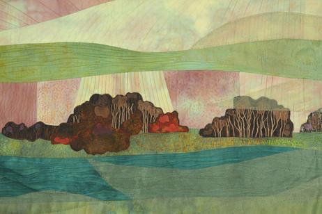 Apple Isle Series: A Foggy Tamar Dawn (detail)