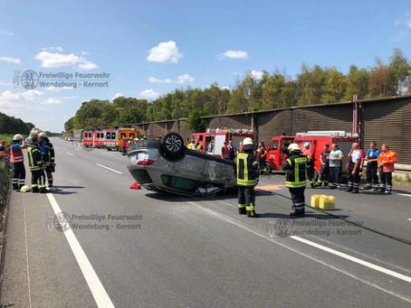Verkehrsunfall mit Massenanfall Verletzter auf A2 (27.07.2019)