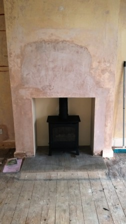 Stove, Plasterwork and Hearth