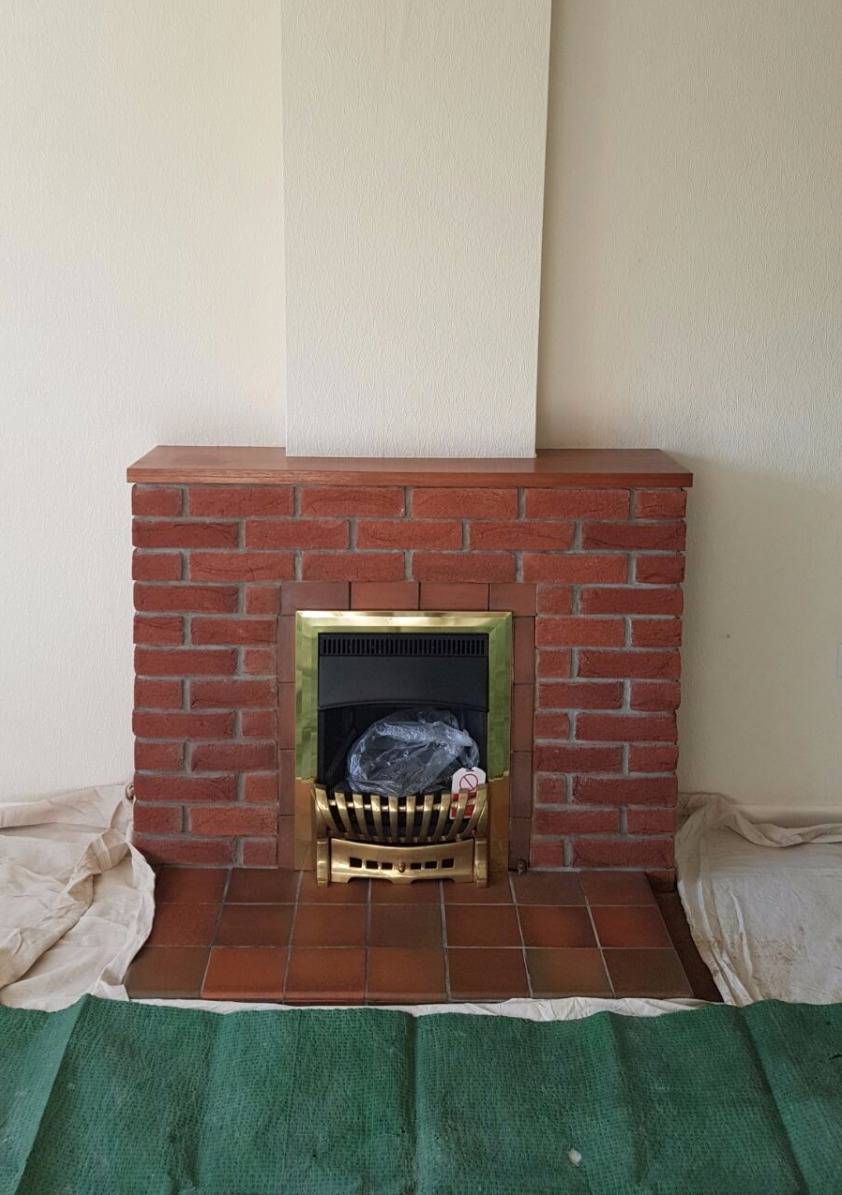 open gas fire