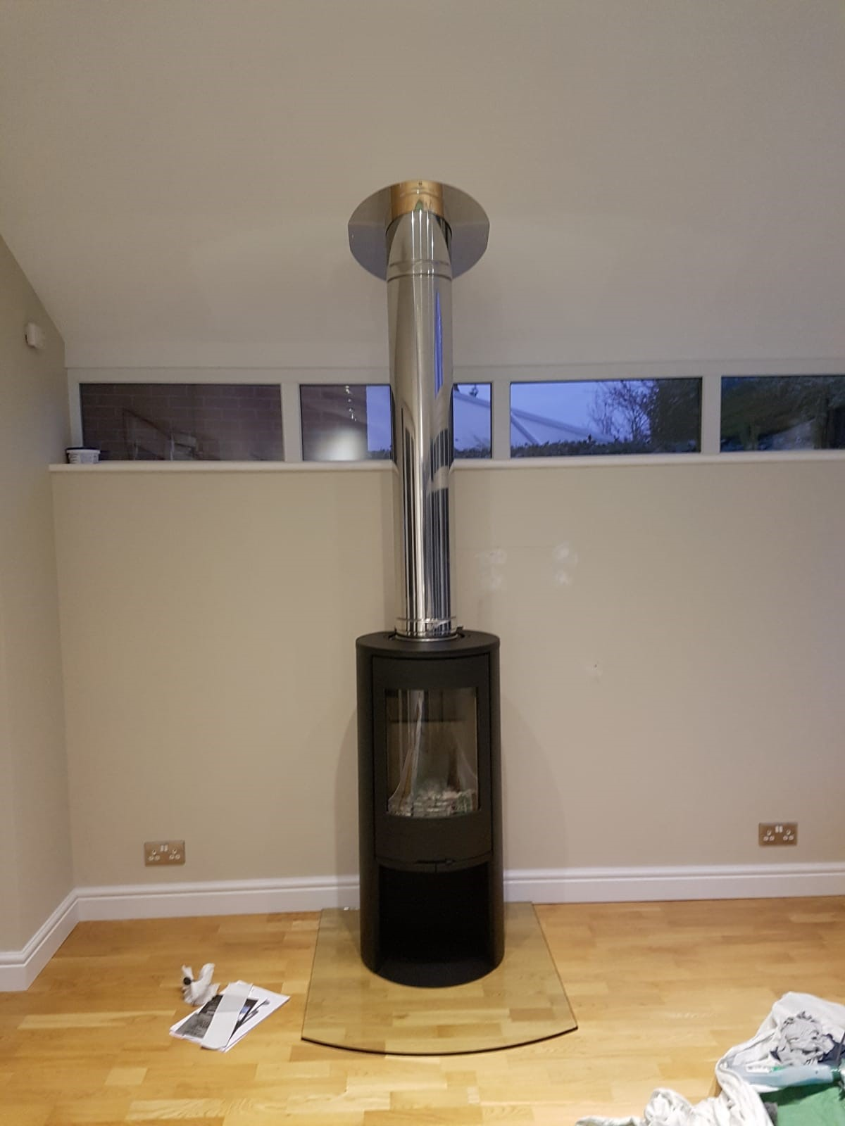contura and twinwall flue