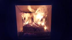 Hickerton - Fire lit