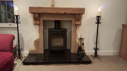 Hickerton - Stove and beam fitted