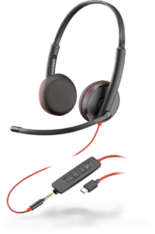 PLX Blackwire C3225 Stereo USB-C Headset
