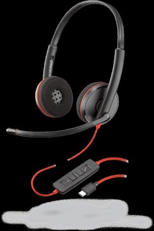 PLX Blackwire C3220 Stereo USB-C Headset