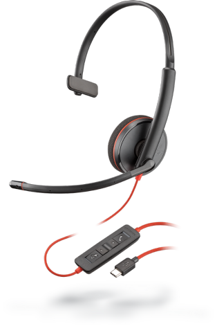 PLX Blackwire C3210 Monaural USB-C Headset