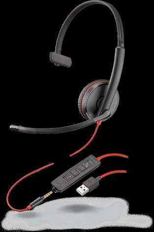 PLX Blackwire C3215 Monaural USB-A Headset