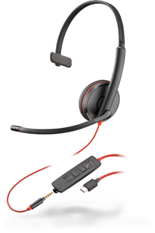 PLX Blackwire C3215 Monaural USB-C Headset