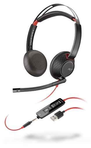 PLX Blackwire C5220 Stereo USB-A Headset with 3.5mm Plug
