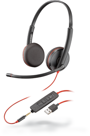 PLX Blackwire C3225 Stereo USB-A Headset