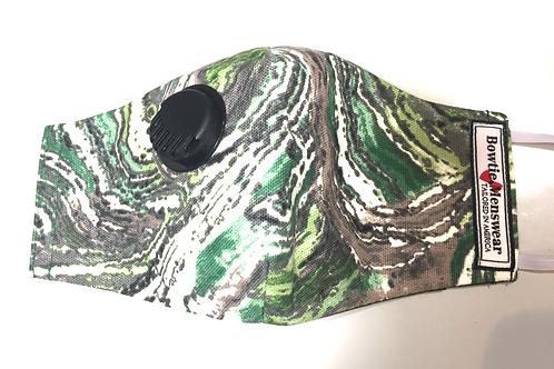Hunter Green Dust Filter Mask