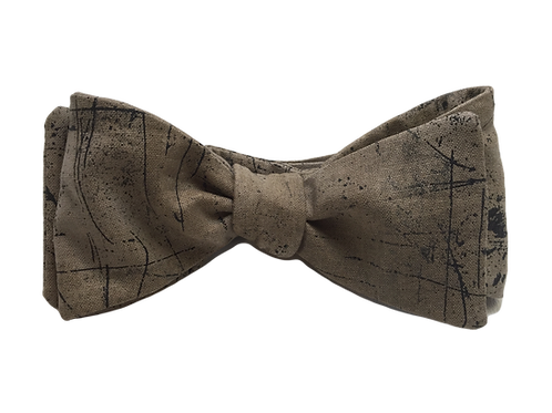 Self Tied Bow Tie #008