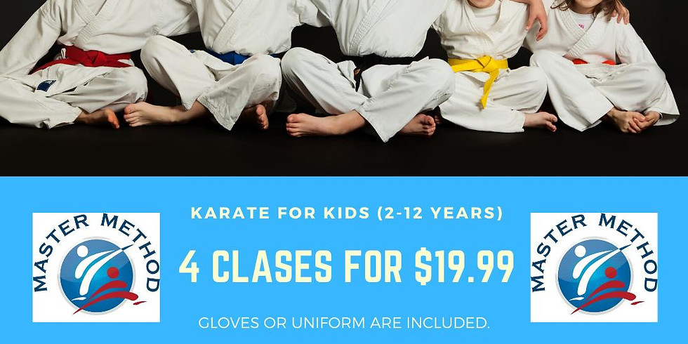 4 Classes for $19.99 for kids