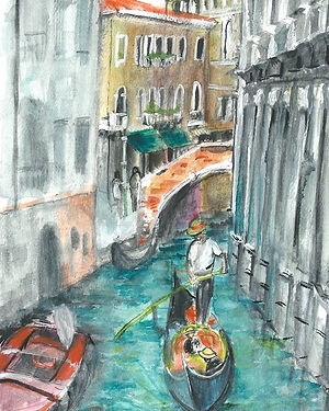 #venezia #gondola #venice #watercolor