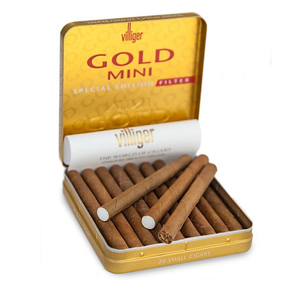 אש טבק סיגרים ועישון | villiger mini gold סיגרלות ויליגר עם פילטר