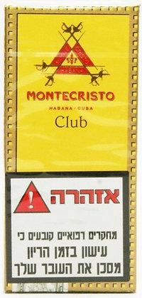 אש טבק סיגרים עישון תל אביב MONTE CRISTO CLUB סיגרלות קובניות מונטה קריסטו קלאב
