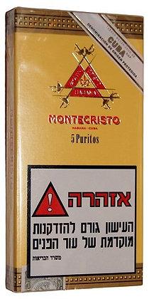 אש טבק עישון וסיגרים תל אביב MONTECRISTO סיגרלות מקובה מונטהקריסטו פוריטוס