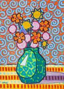 Psychedelic flower arrangement -2020