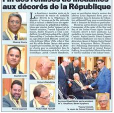 Article Le Mauricien 23 août 2019
