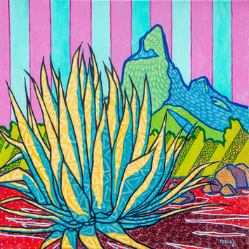 Agave aloe and Rempart mountain - 2020