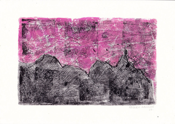 Pieter Both mountain with pink sky
