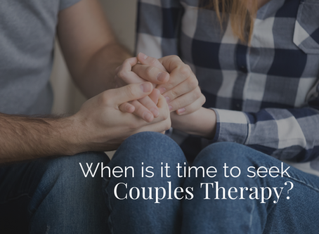 When is it Time to Seek Couples Therapy?