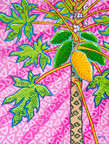 Papaya tree on pink background - 2020
