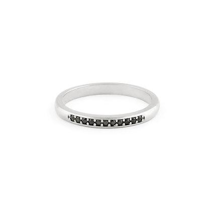 Jessica ring - Black zirconia