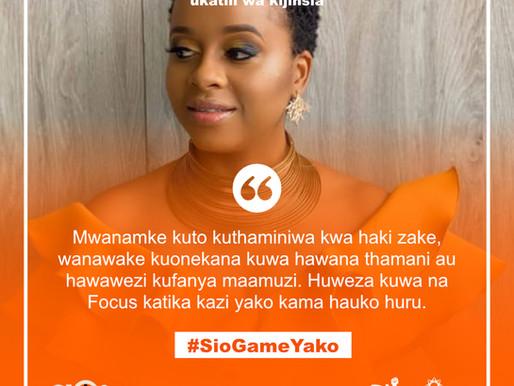 Msichana Kwenye Game, #SioGameYako