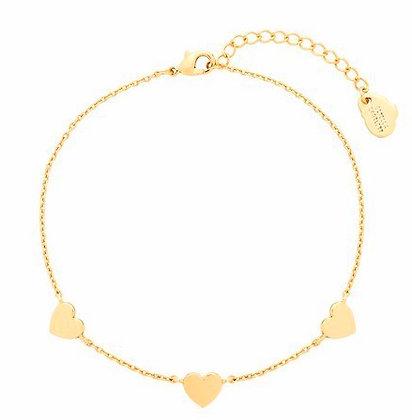 Three heart bracelet