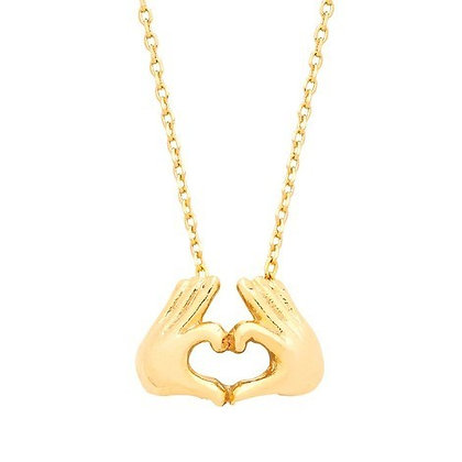 Heart hand necklace