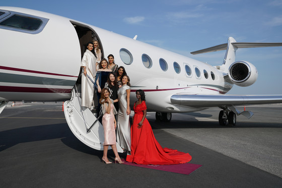 Grace Chen hosts private fashion show on board the Qatar Executive G650 Private Jet