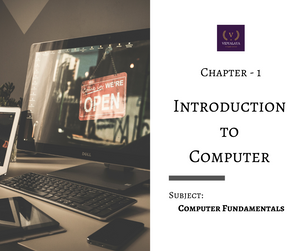 The image is a chapter header. Chapter - 1 : Introduction to Computer