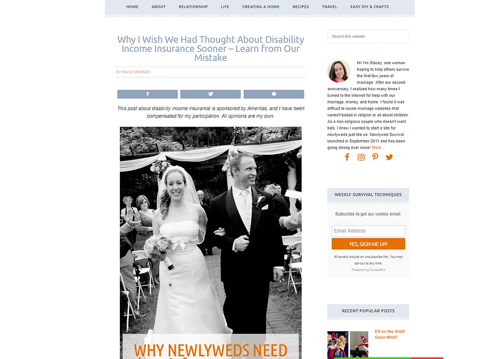 Stacey Werner, creator of Newlywed Survival