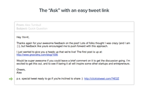 ask with an easy tweet link