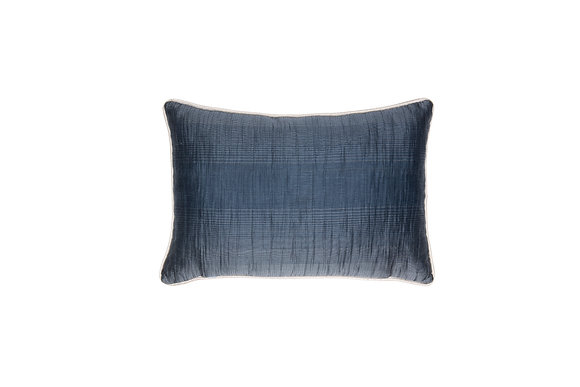 NAVY BLUE CRUSH POLYESTER CUSHION