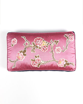 Applique Detailed Rectangular Cushion